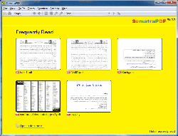 Sumatra PDF – description, review and screenshots of the program